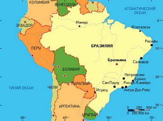 бразилия фото на карте мира