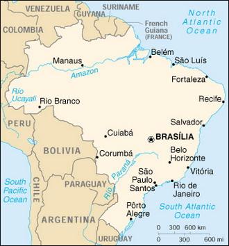 Топографическая карта бразилии