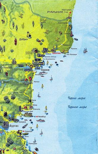 Карта болгарии для начинающего