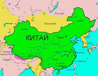 Географическая карта китая