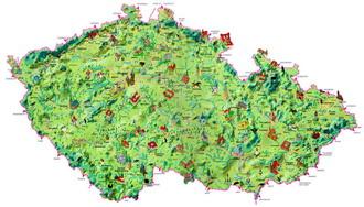 Карта достопримечательностей чехии