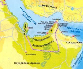 Туристическая карта ОАЭ