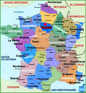 Рубрика карты франции