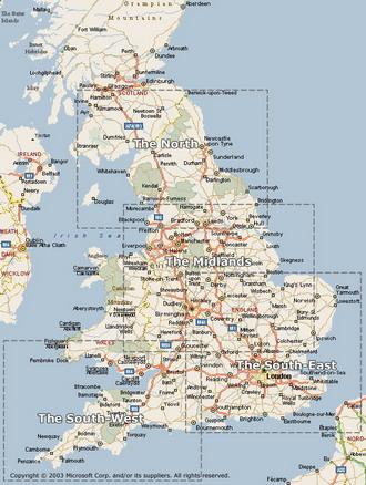 Туристическая карта великобритании
