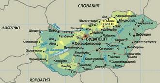 Подробная карта венгрии