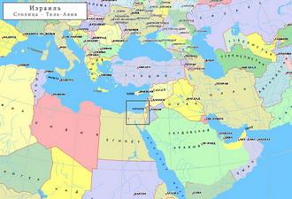Географическая карта израиля